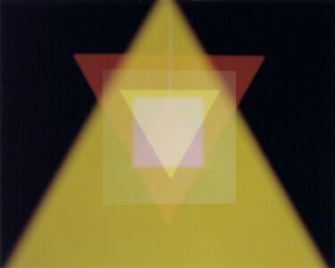 João Maria Gusmão & Pedro Paiva, 'Triangles and Squares 6 (Yellow)', 2013
