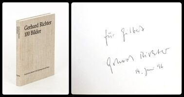 Gerhard Richter, '100 Bilder (100 Pictures), Hand signed and inscribed by Gerhard Richter', 1996