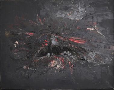 Gerhard Hoehme, 'schwarz-pölzig', 1956