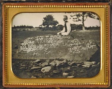 Horatio B. King, 'Seth Eastman at Dighton Rock', July 7th-1853