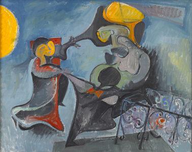 Hans Burkhardt, 'Halloween Dance', 1965