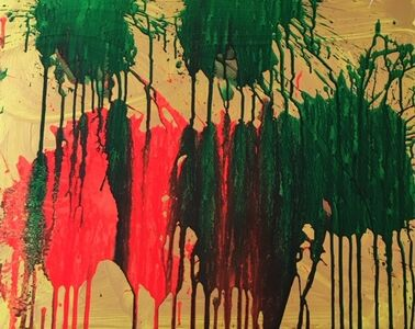 Ushio Shinohara, 'Red and Green on Gold', 2018