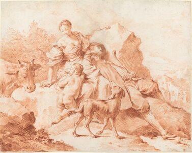 Giovanni Battista Piazzetta, 'A Shepherd Family Resting', 1740s