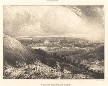 Paul Huet, 'View of the Chateau d'Eu (Vue du Chateau d'Eu)', 1834