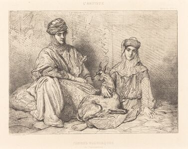 Théodore Chassériau, 'Femmes Mauresques de Constantine', 1851