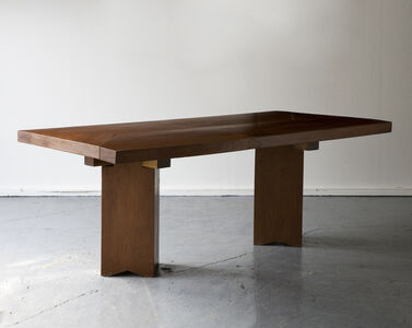 José Zanine Caldas, 'Dining table in solid wood with diamond shaped legs', 1970s