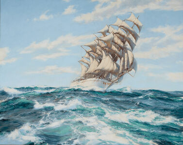 Montague Dawson, 'Pounding the Waves - Dumbarton Rock', 20th Century