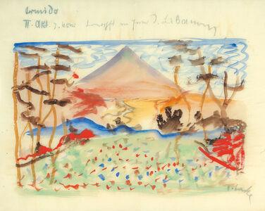 """Oskar Laske, 'Stage sketch for the opera """"Armida""""', 1911"""