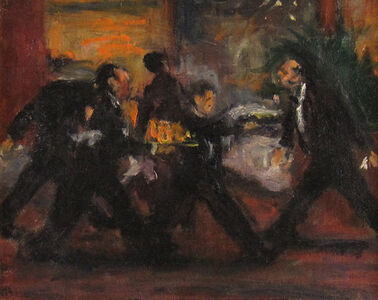 Robert Philipp, 'Rushing Waiters', 1950