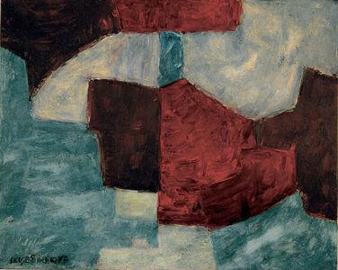 Serge Poliakoff, 'Bleue, rouge lie de vin', 1965
