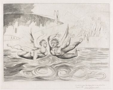 William Blake (1757-1827), 'The Circle of the Corrupt Officials; the Devils Mauling Each Other', 1827