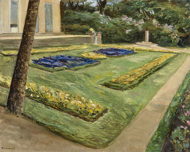Max Liebermann, 'The Flower Terrace, Wannsee Garden to the North-West', 1917