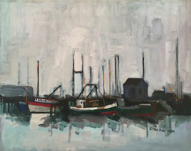 Salvatore Del Deo, 'Grey Day at Main Pier', 1980