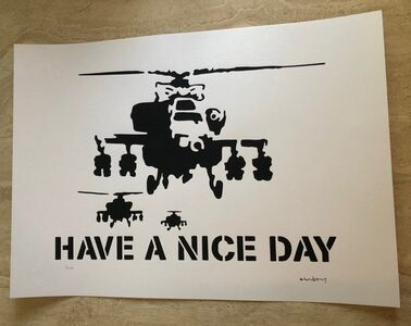 "After Banksy, '""Have a Nice Day"" Chopper', Unknown"