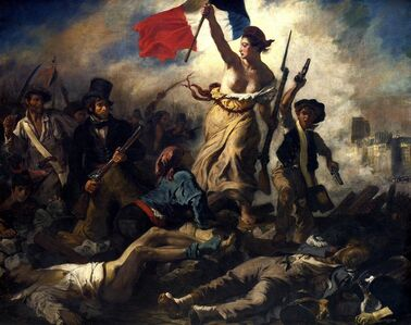 Eugène Delacroix, 'La Liberté guidant le peuple (Liberty Leading the People)', 1830