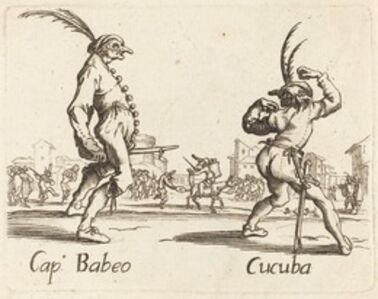 after Jacques Callot, 'Cap. Babeo and Cucuba'