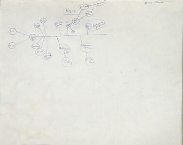 Mark Lombardi, 'Mary Carter Resorts Study (verso of two-sided drawing)', ca. 1994