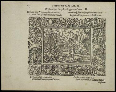 Virgil Solis, 'Orpheus pro Eurydice supplicat Orco', 1563