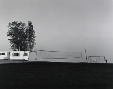 Frank Gohlke, 'Badminton net, fog on Lake Superior, near Grand Marais, Minnesota', 1977