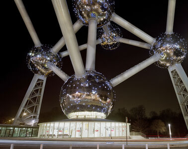 """Jade Doskow, 'Brussels 1958 World's Fair, """"A New Humanism,"""" Atomium at Night', 2008"""