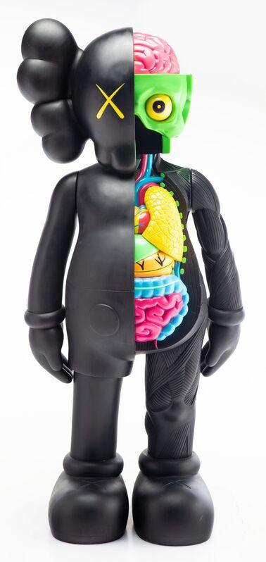 KAWS, '4FT Dissected Companion (Black)', Sculpture, Fiber-reinforced plastic, Heritage Auctions