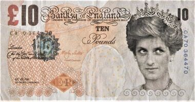 Banksy, 'Di-Faced Tenner (with COA hand-signed)', 2004