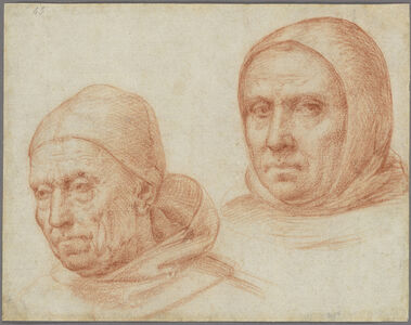 Baccio della Porta, called Fra Bartolommeo, 'Heads of Two Dominican Friars', ca. 1511
