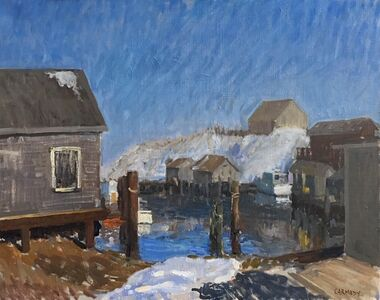 Kelly Carmody, 'Menemsha in Snow', 2018