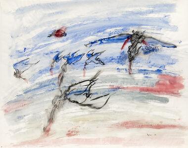 Nancy Spero, 'War, birds of prey', 1966