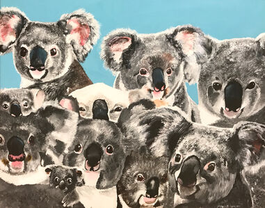 Myasia Dowdell, 'Crowd of Koalas', 2017