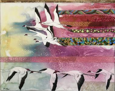 Paola Bari, 'Flamingos', 2017