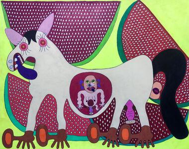 Raquel Albarran, 'Albino Horse Pregnant with a Human Baby Pregnant with a Toe', 2018