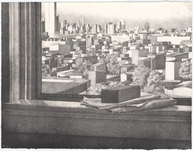 Catherine Murphy, 'Still Life with View of Hoboken and Manhattan', 1975