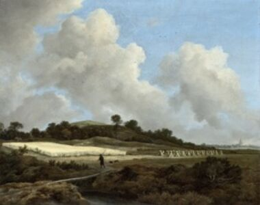 Jacob van Ruisdael, 'View of Grainfields with a Distant Town', 1670