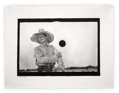 """Joel Daniel Phillips, 'Kill Negative #8 / After John Vachon [Archive Text: """"Untitled Photo, Possibly Related to: Farmer, Irwinville Farms, Georgia""""]', 2020"""