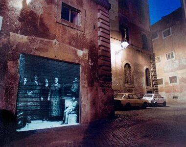 Shimon Attie, 'BEHIND PIAZZA MATTEI, ROME, ITALY Judaica Contemporary Photograph', 20th Century