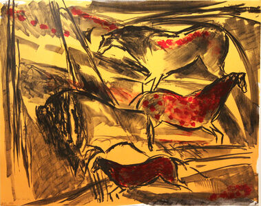 Elaine de Kooning, 'Untitled (from the Lascaux Series)', 1984