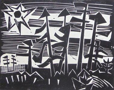 Karl Schmidt-Rottluff, 'Russian Forest   Russisches Wald', 1918