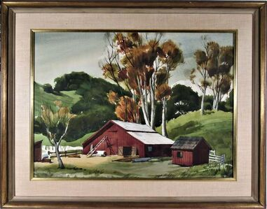 """Frederick Cole, '""""The Old Red Barn"""" ', ca. 1965"""