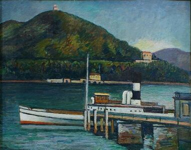 Piero Marussig, 'Jetty on the Lake Iseo', 1928-1930