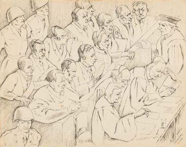 George Biddle, 'Nuremberg Trial, The Accused', 1946