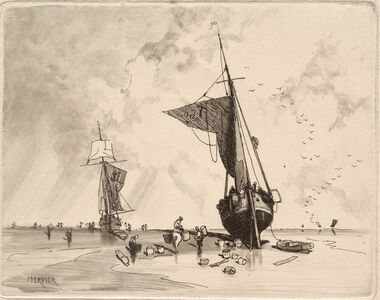 Louis Adolphe Hervier, 'Fishing Boat', ca. 1854