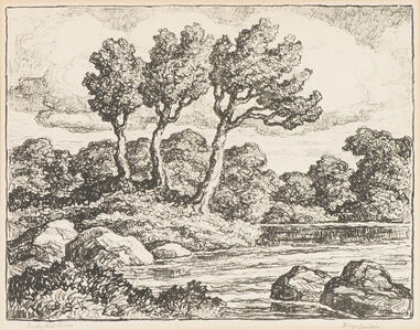 Birger Sandzén, 'Smoky Hill River', 1938