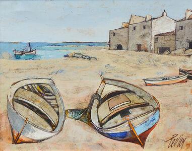 Charles Levier, 'Barques (Boats at Harbor) ', 1920-2003
