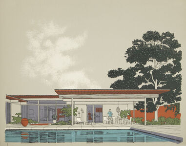 Carlos Diniz, 'Monarch Bay Homes, Pool View (Ladd and Kelsey, Architects) (grey)', 1961