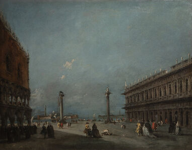 Francesco Guardi, 'A View of the Piazzetta looking towards the Bacino & S. Giorgio Island'