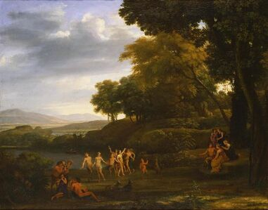 Claude Lorrain, 'Landscape with Dancing Satyrs and Nymphs', 1646