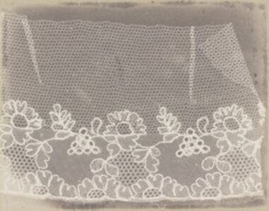 William Henry Fox Talbot, 'Lace', 1839-1844