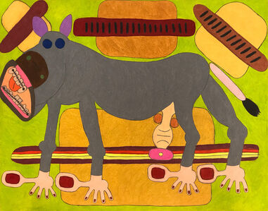 Raquel Albarran, 'Donkey with Braces and Hot Dogs', 2018
