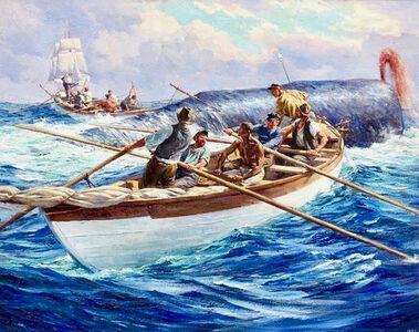 Anton Otto Fischer, 'Whale Hunting', 1938